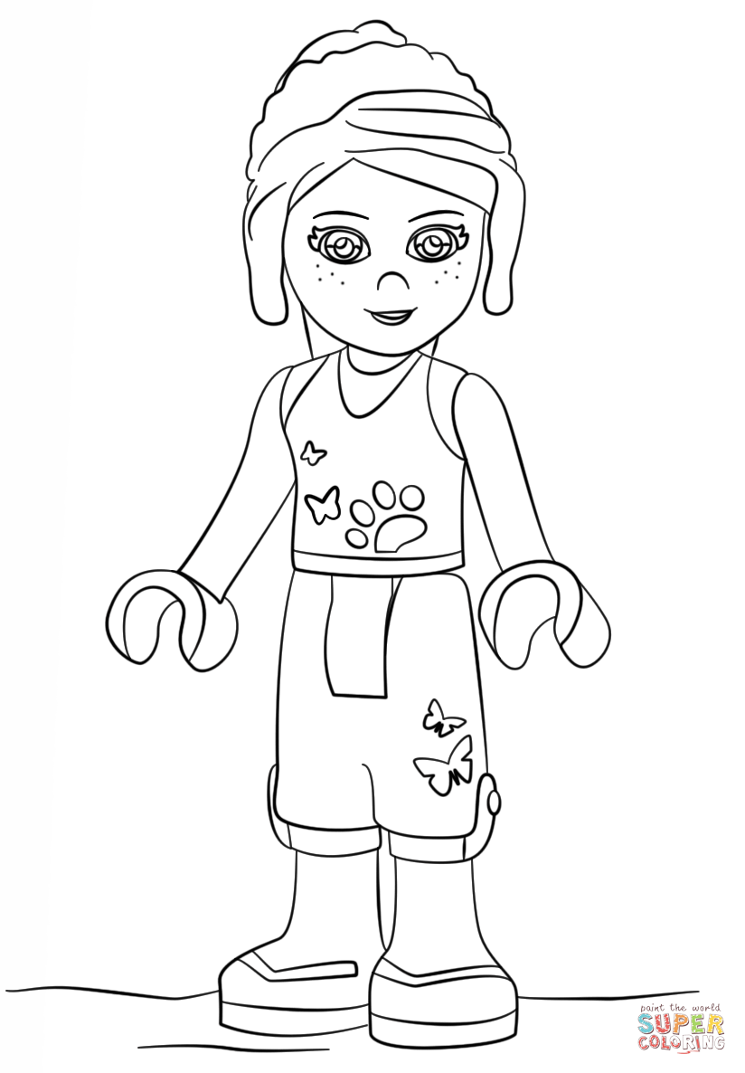 lego friends mia coloring page  free printable coloring