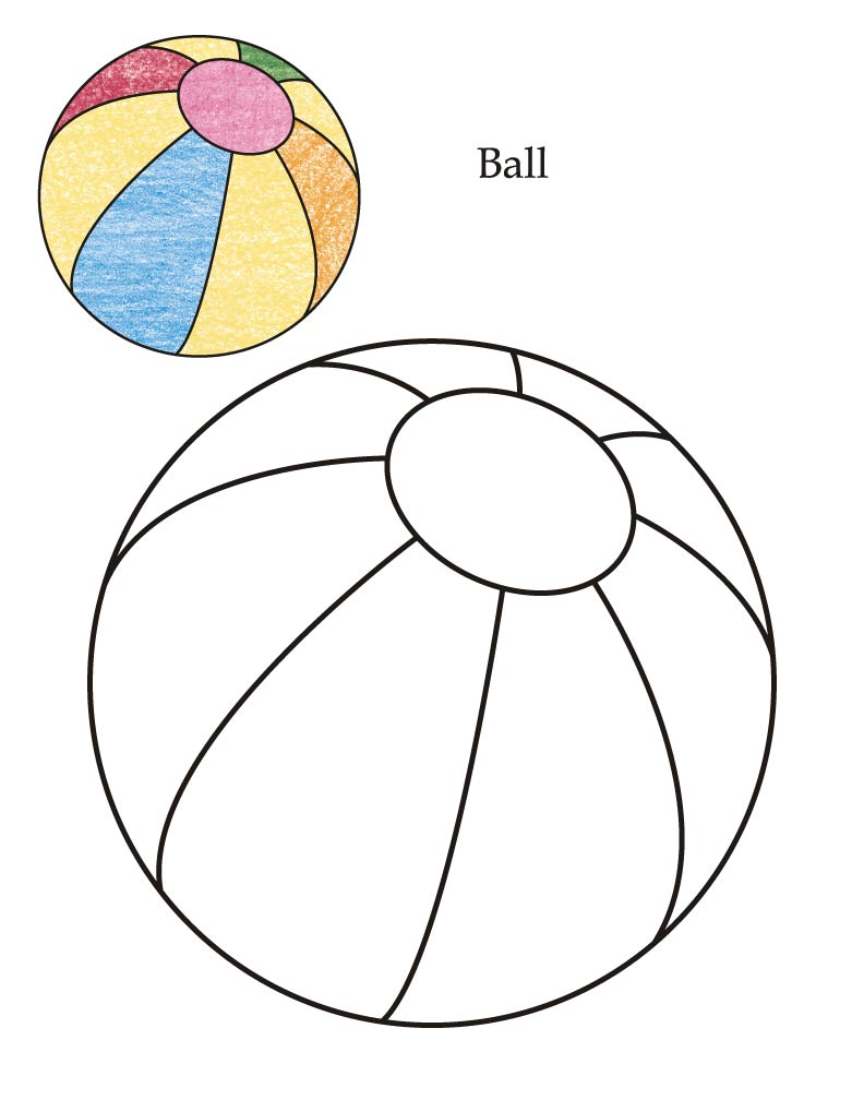 Ball Coloring Page - Coloring Home