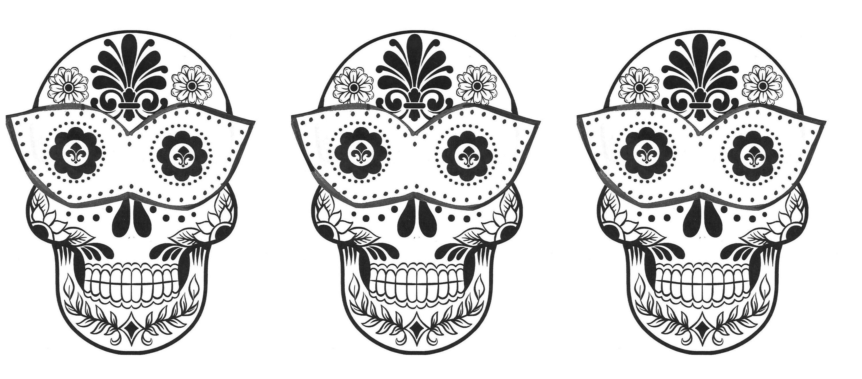 Printable Adult Coloring Pages Sugar Skull