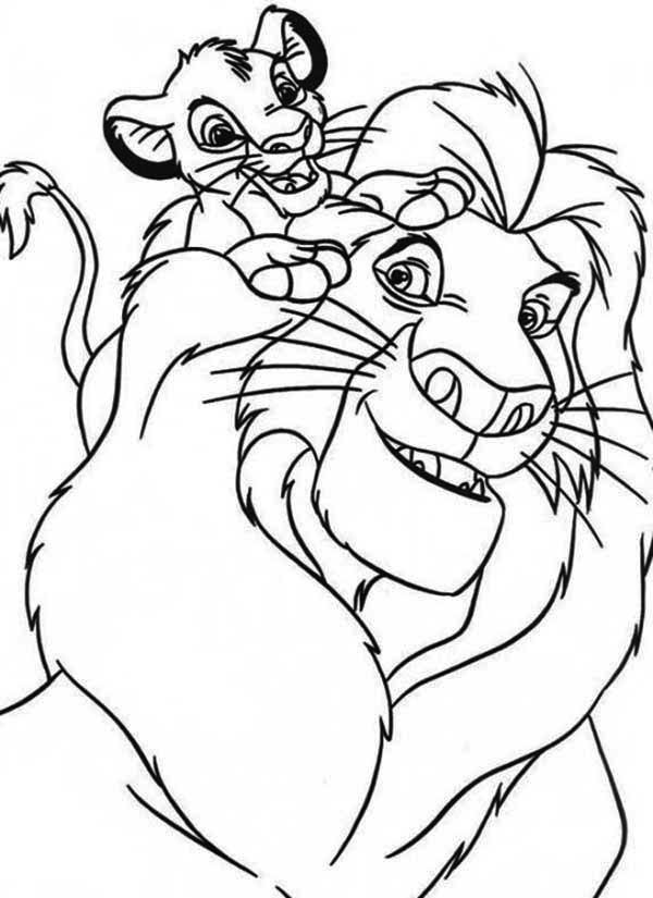 Mufasa Coloring Page - AZ Coloring Pages