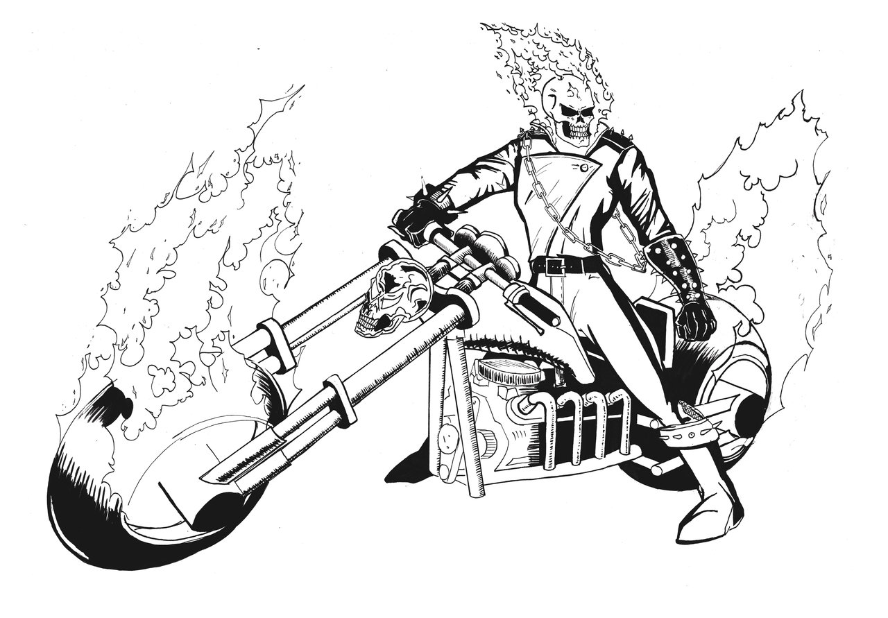 Ghost Rider Coloring Pages Coloring