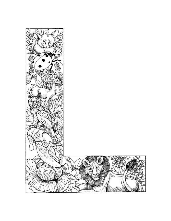Free Printable Letter L Coloring Pages - Coloring Home