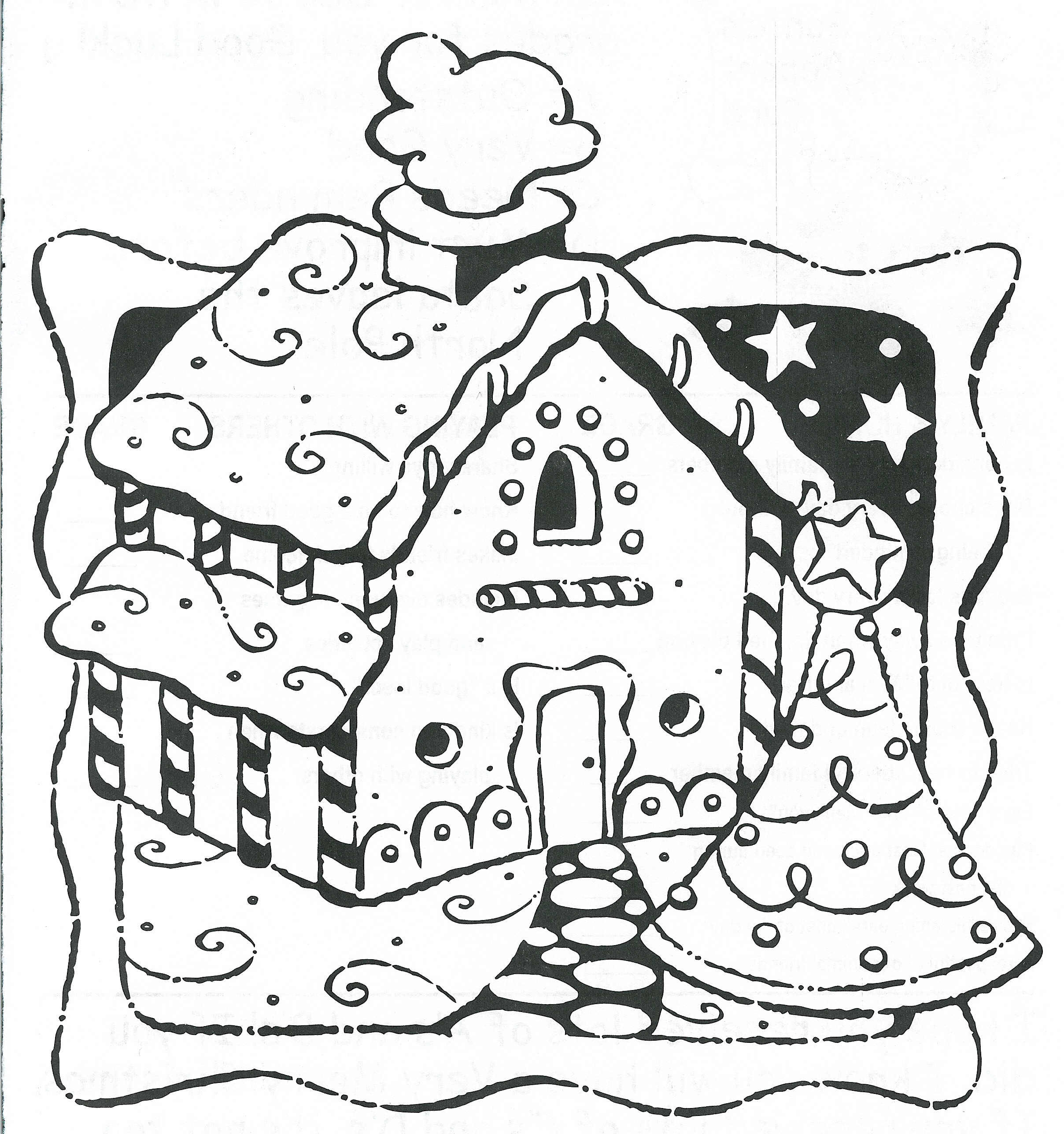 christmas village houses coloring pages - photo#14