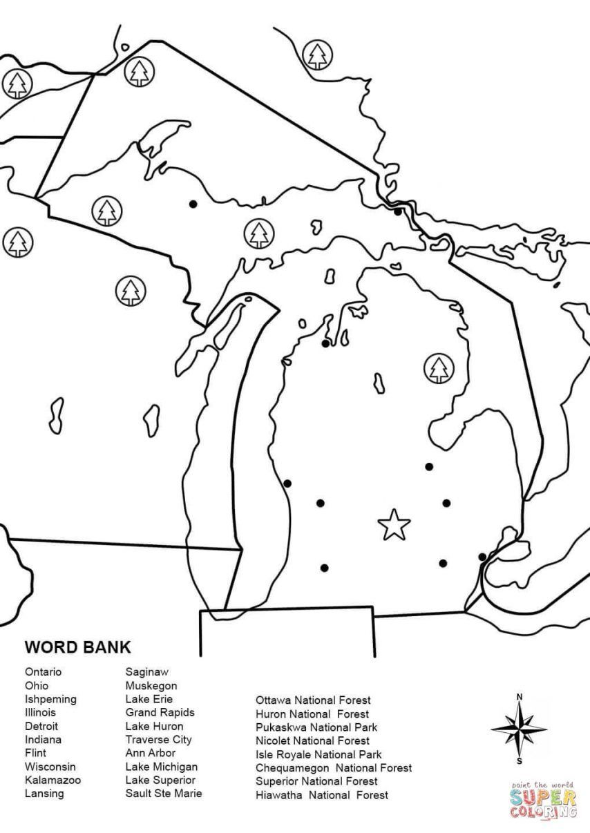 Printable Treasure Map Coloring Pages World