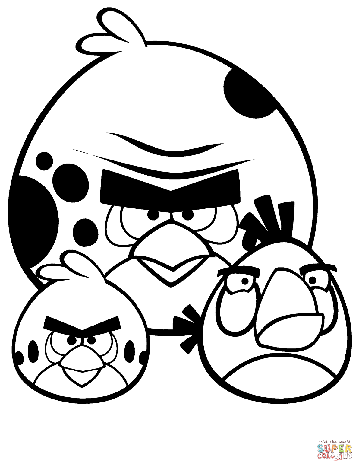 Angry Birds Red Coloring Pages
