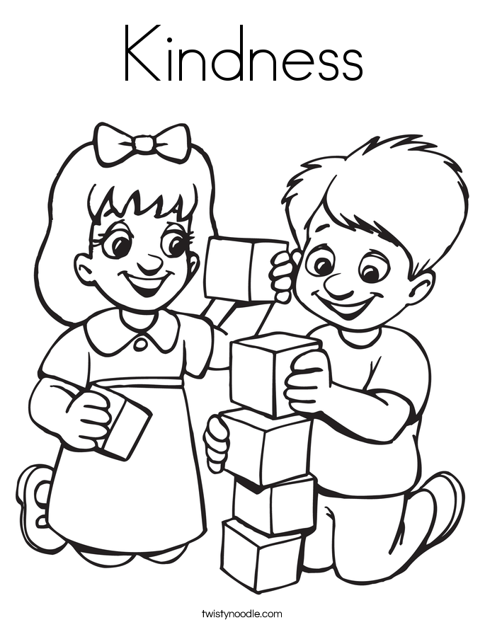 Coloring Page Kindness Kindness Coloring Page - Twisty Noodle