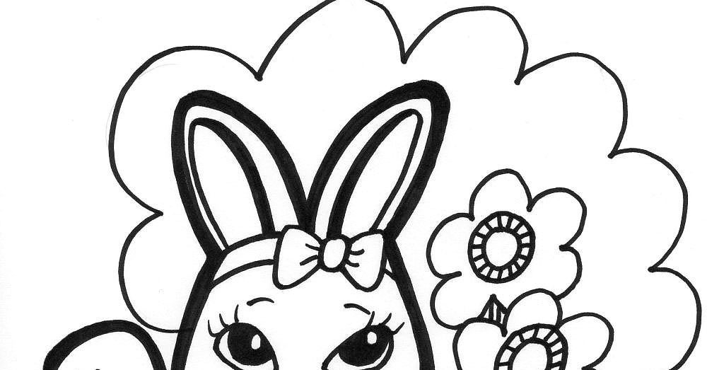 Easter Bunny Face Coloring Pages - Coloring Home