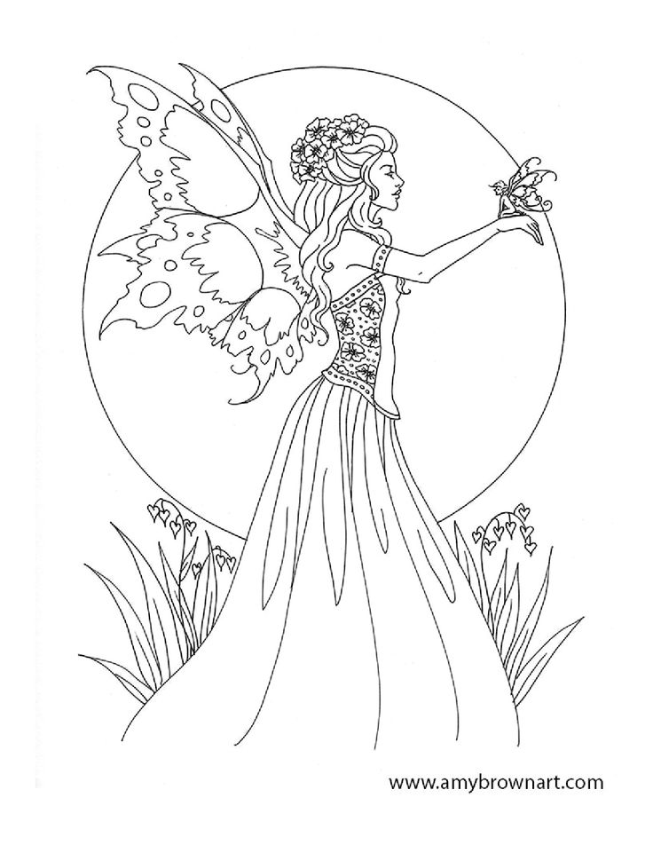 Woodland Fairy Coloring Pages - Coloring Home