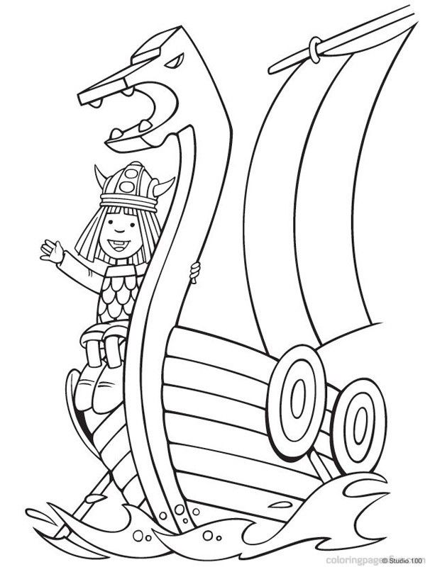 Vikings Coloring Pages For Kids And For Adults Coloring Home