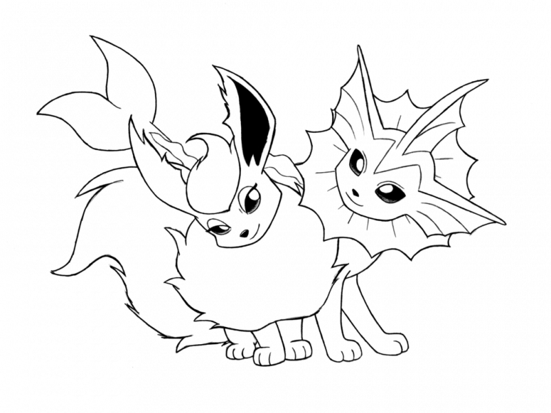 Pokemon Eevee Evolutions Coloring Pages Printable € Coloring Pics ...