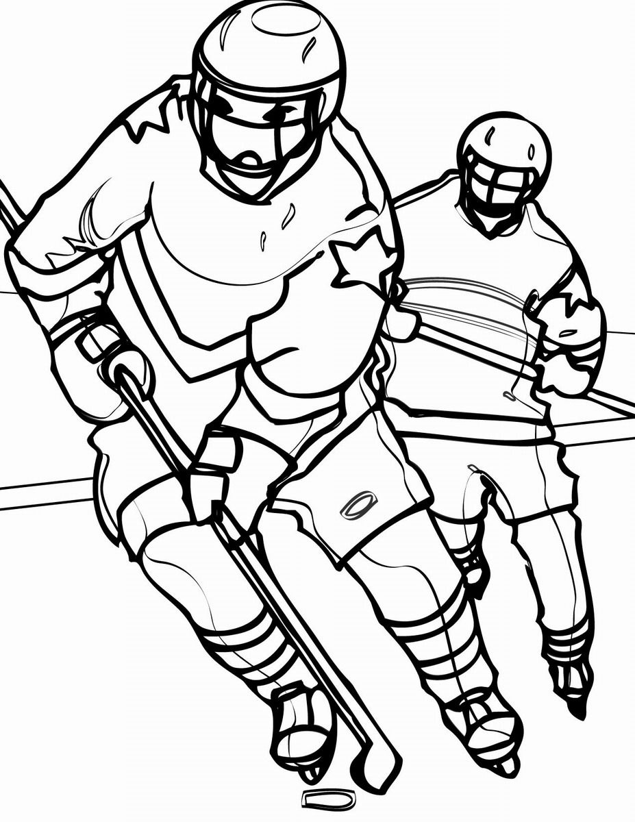 Free printable hockey coloring pages coloring home for Coloring pages hockey