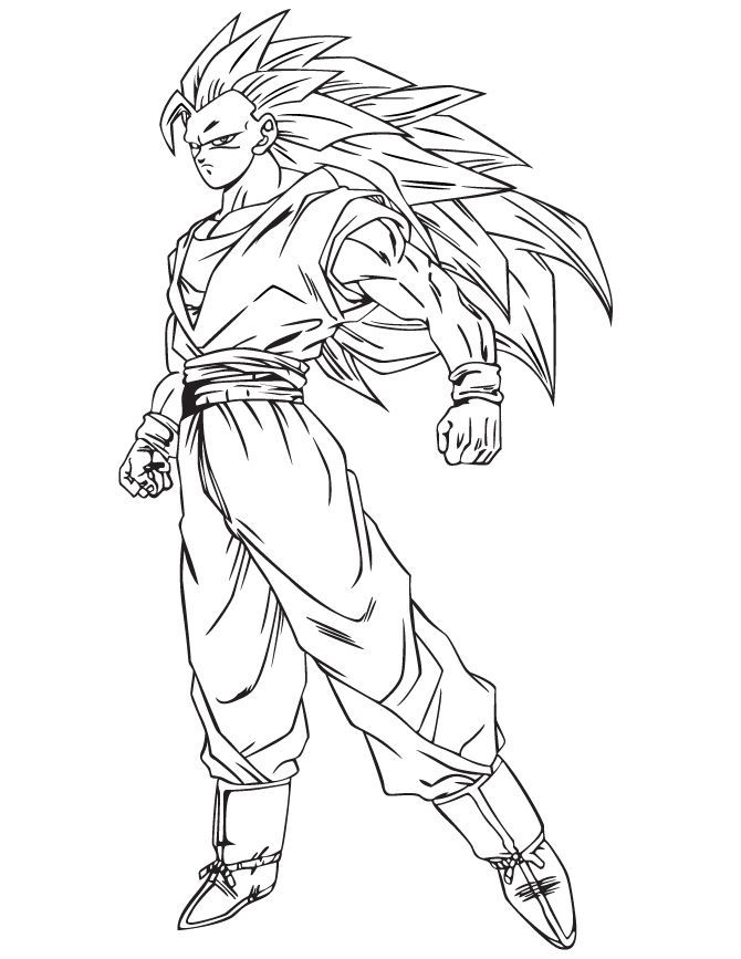 Goku Super Saiyan 1 Coloring Pages Coloring Home
