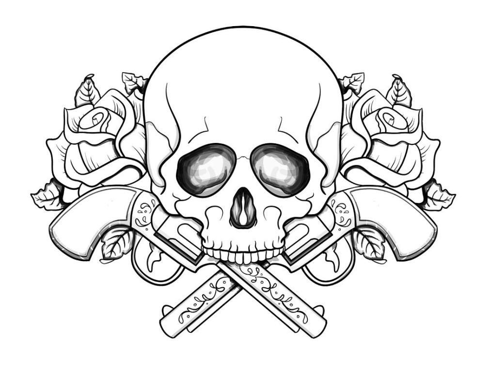 Skull Colouring Pages Coloring Pages For Kids And For Adults