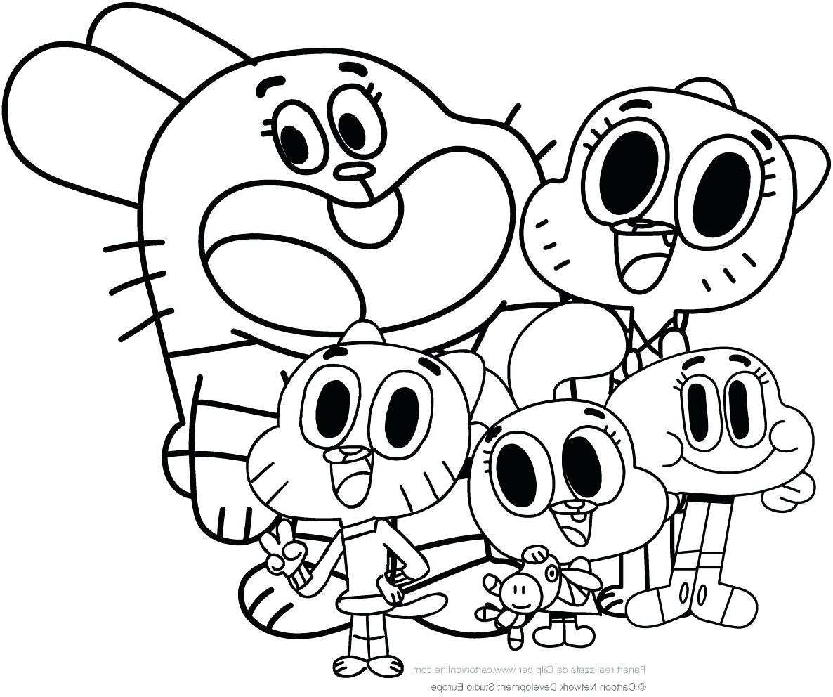 Amazing World Of Gumball Coloring Pages