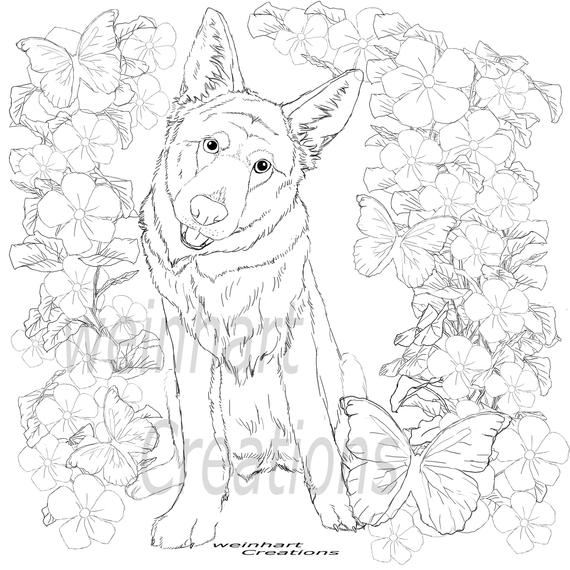 German Shepard Coloring Pages Coloring Home