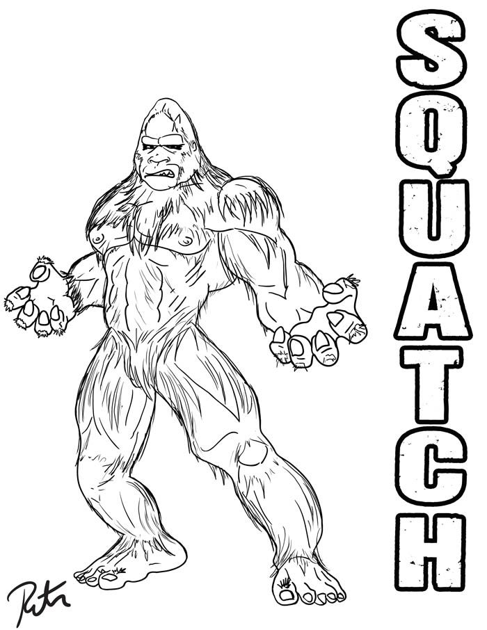 bigfoot printable coloring pages - photo#2
