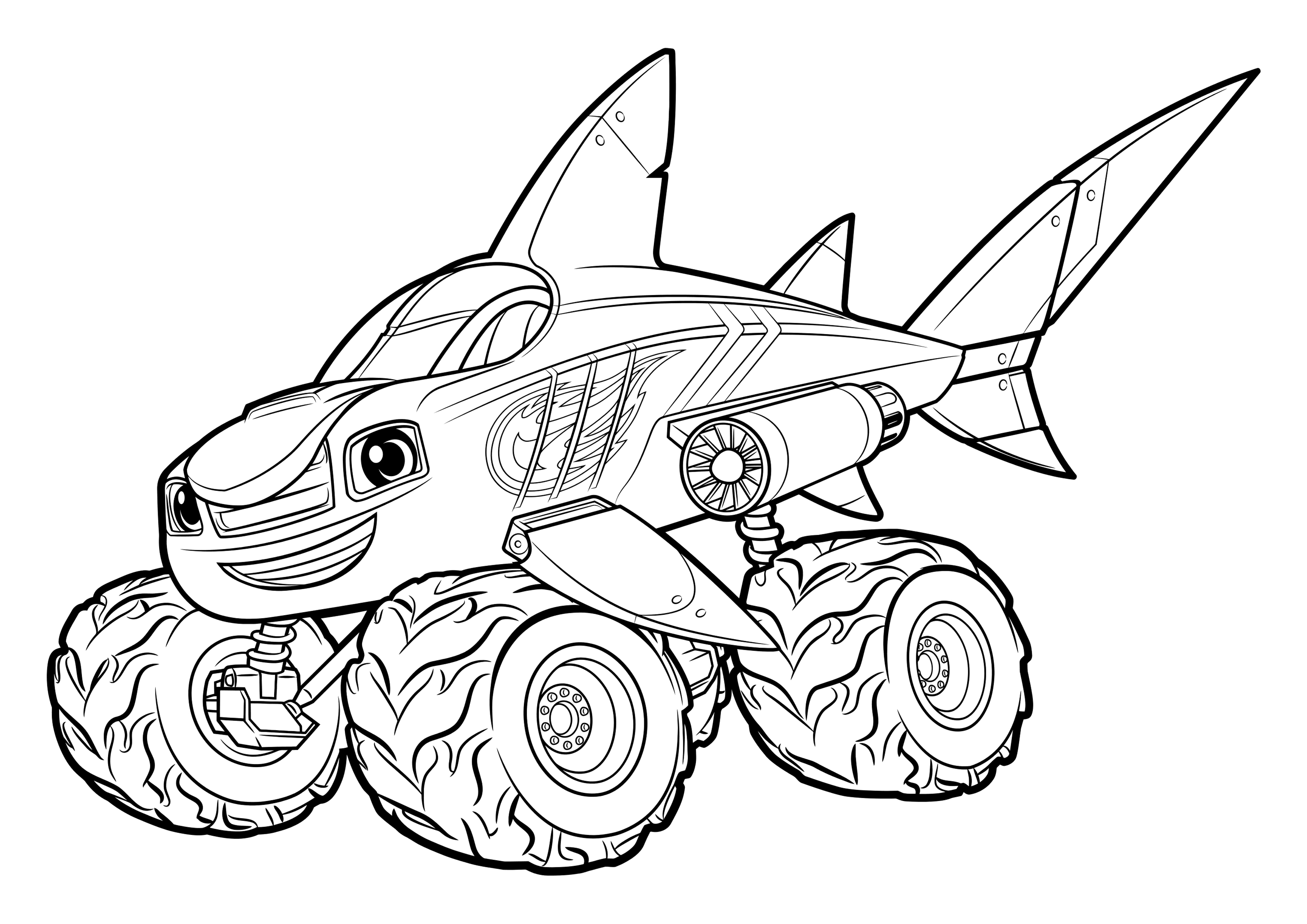 Blaze And The Monster Machine Coloring Pages Coloring Home