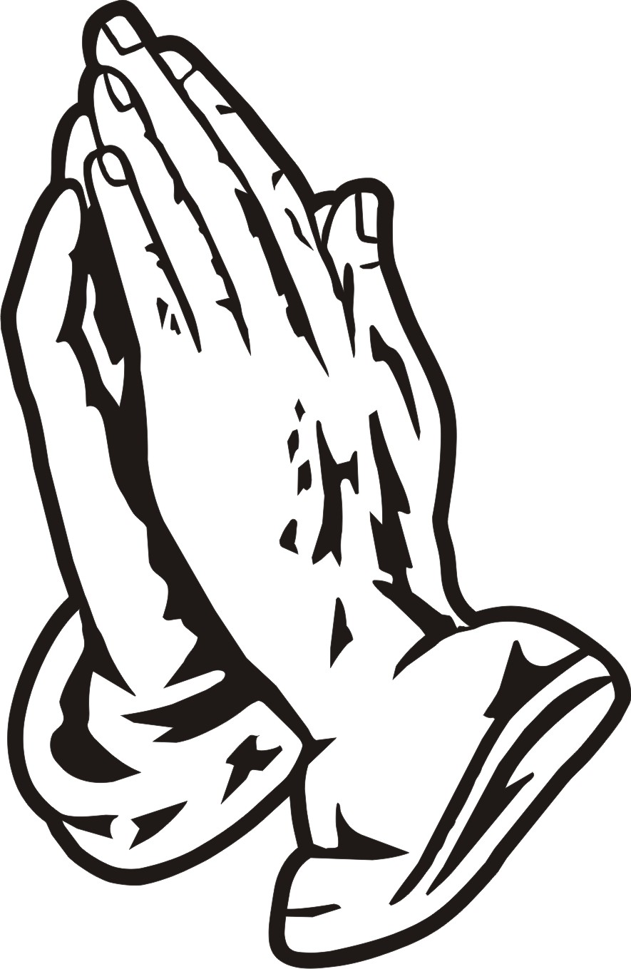 Clip Art Praying Hands Coloring Pages printable praying hands az coloring pages clipart kid hand pages