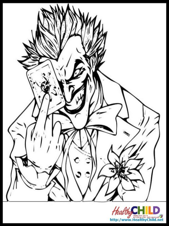 joker coloring pages. click the smiling joker coloring pages to ...