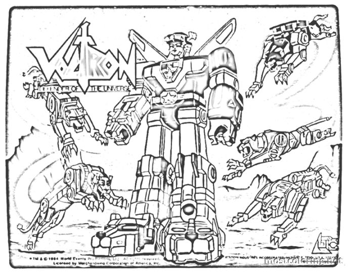voltron coloring pages