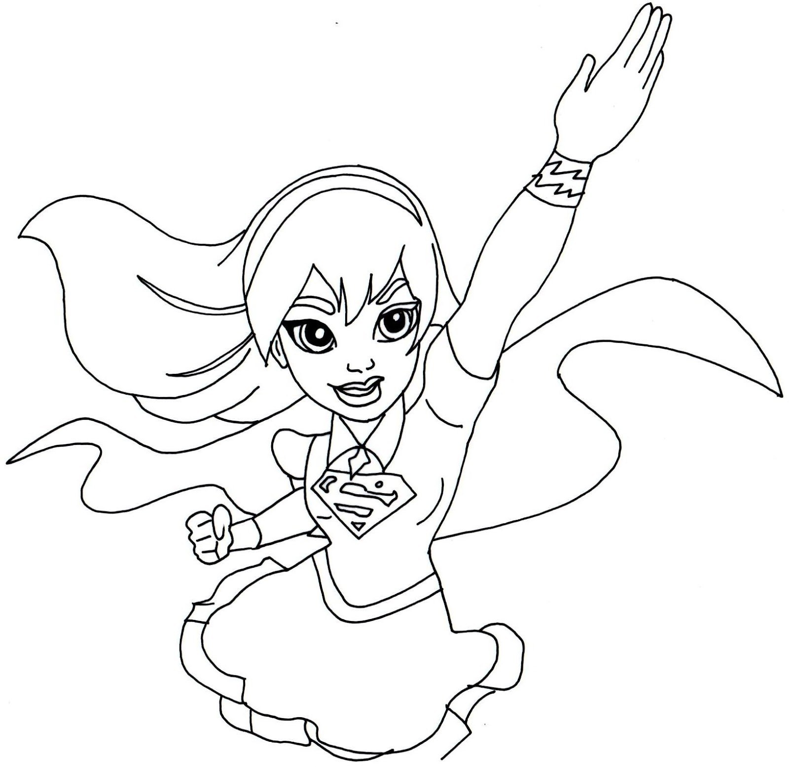 supergirl coloring page - supergirl coloring pages coloring home