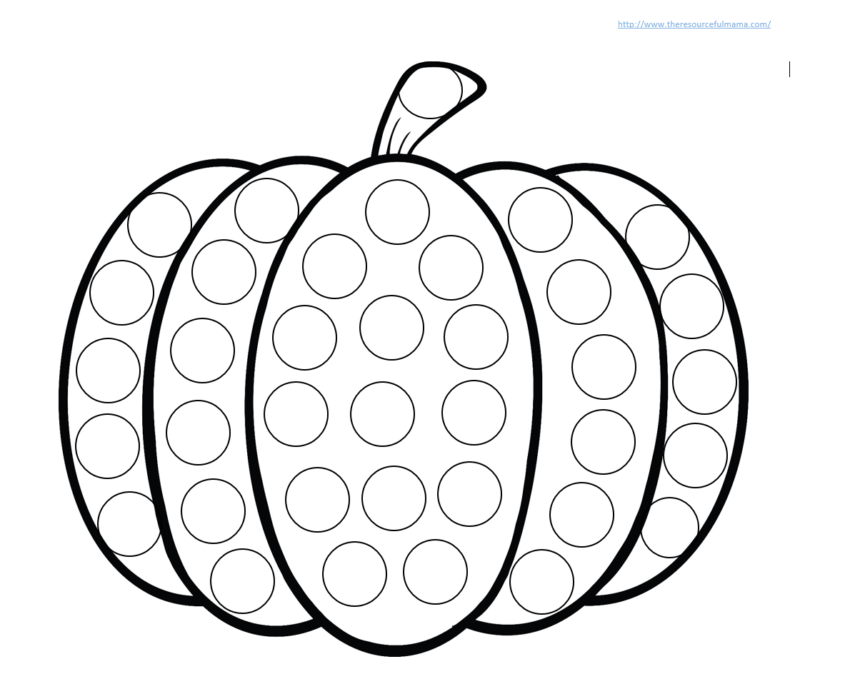 Do A Dot Art Coloring Pages - Coloring Home