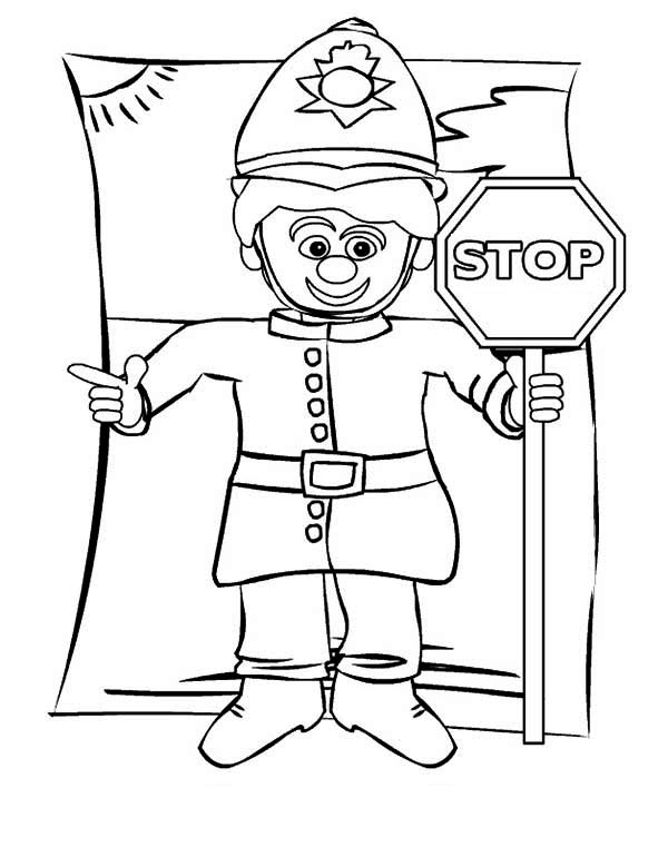 Stop Sign Coloring Page Funny School Bus
