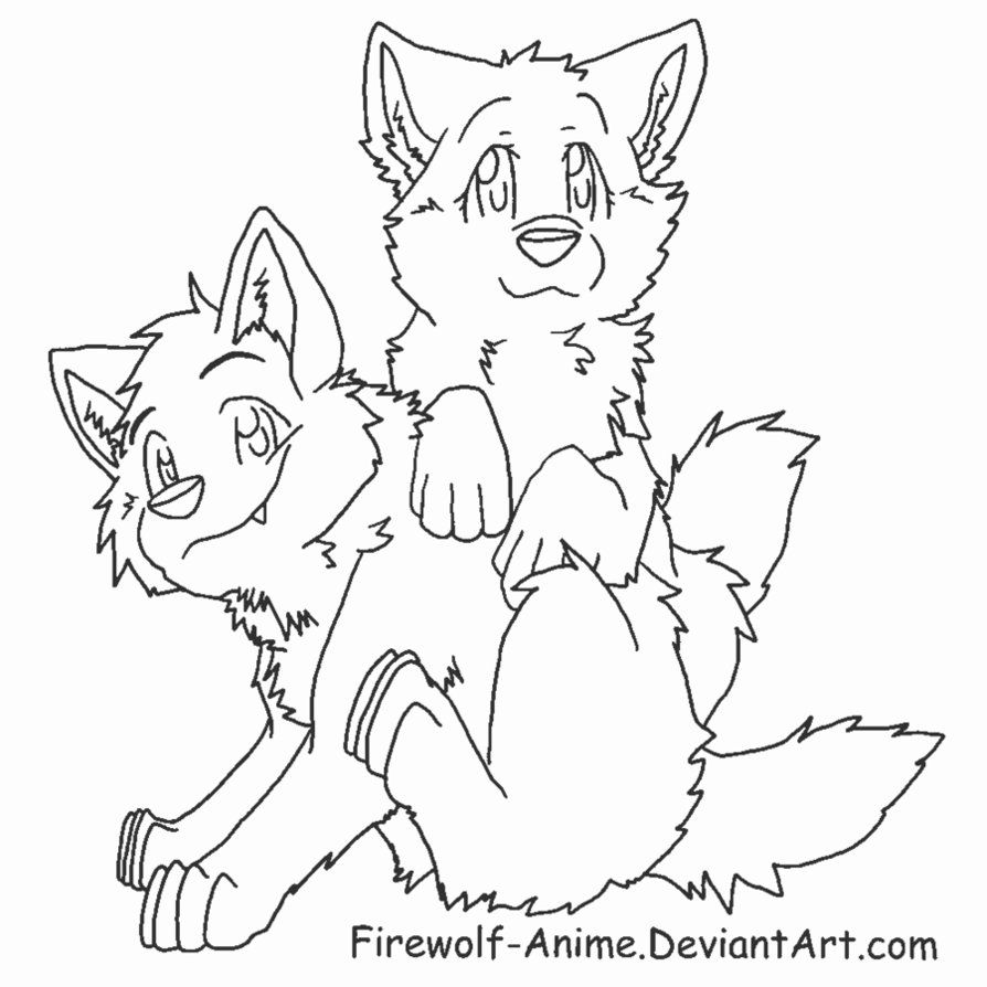 10 Pics Of Only Wolf Coloring Pages Anime Wolf Pup Coloring