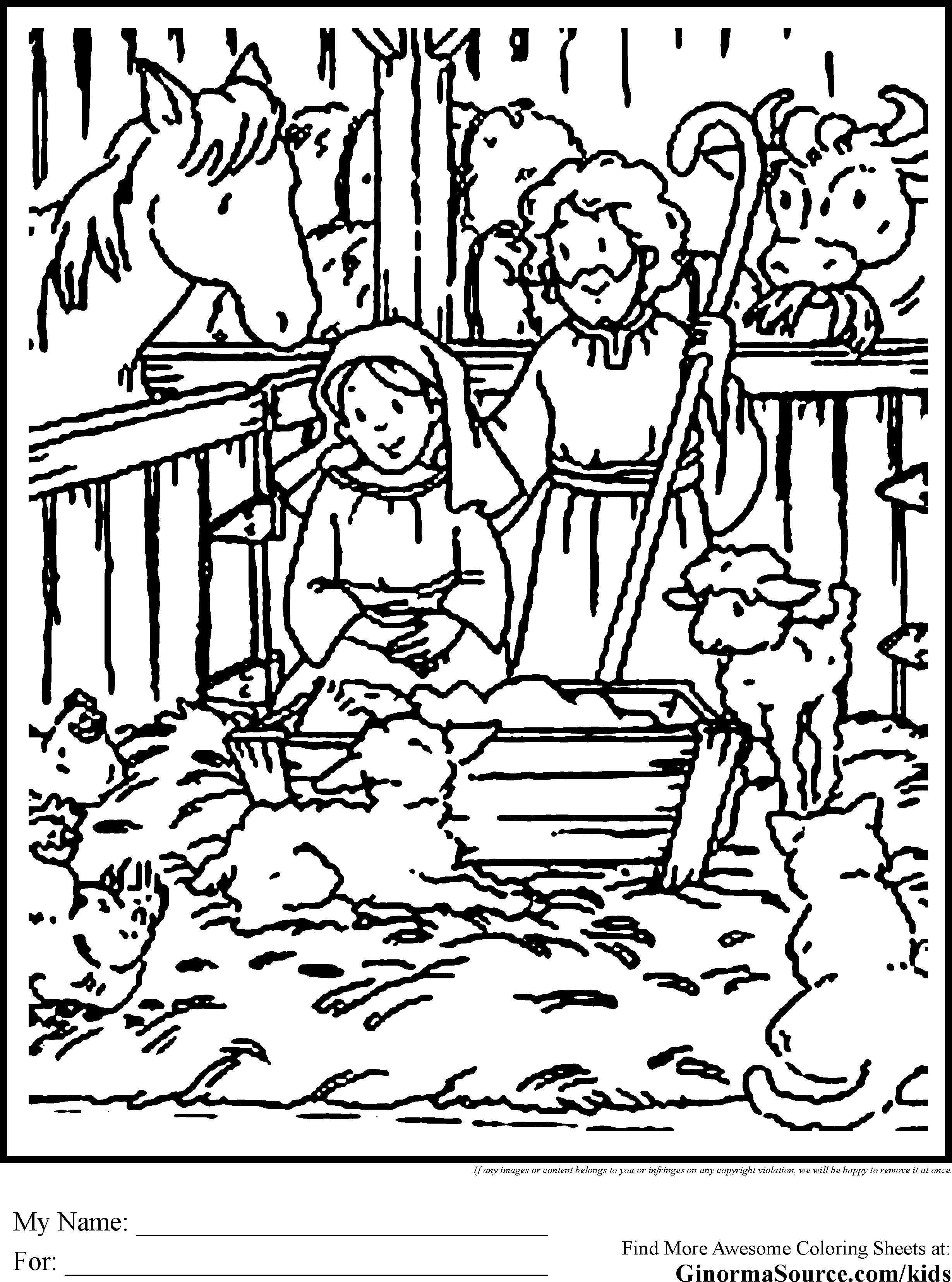 The Christmas Story In Coloring Pages For Preschool ...