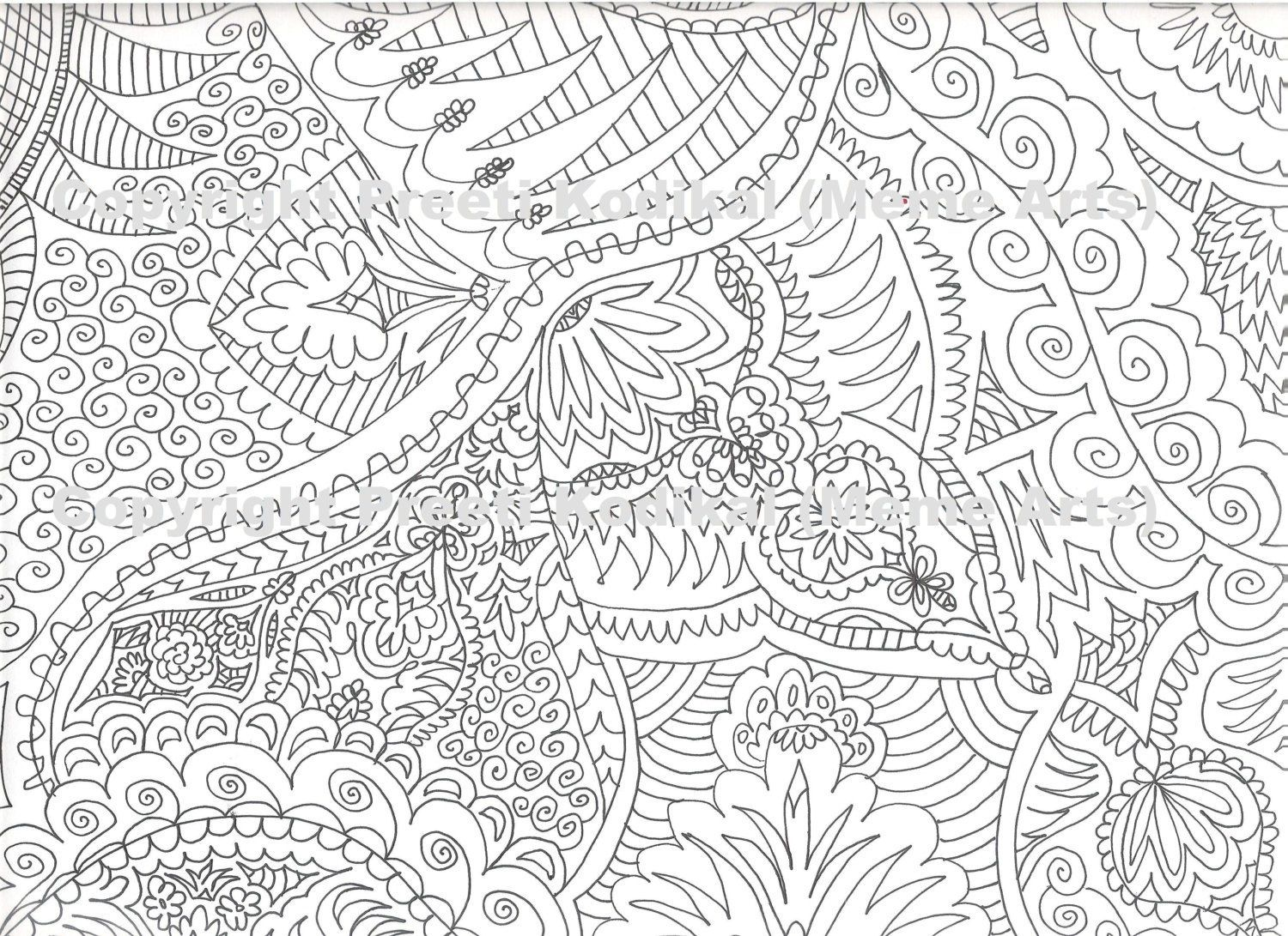 Free mehndi coloring pages coloring home for Henna coloring pages