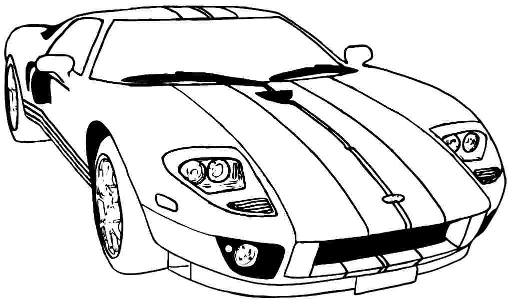 printabl sportcar coloring pages - photo#26