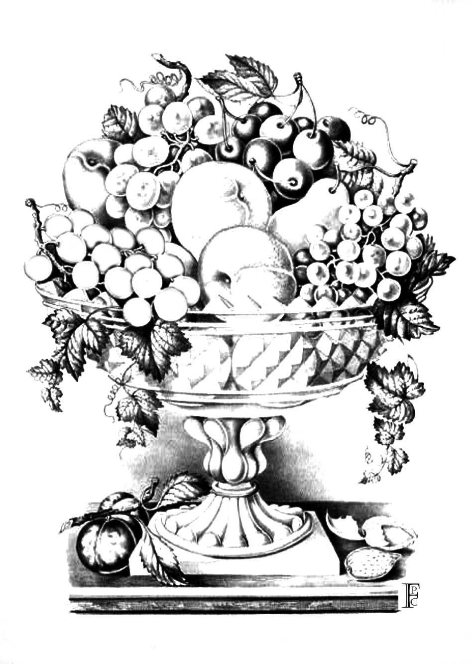 Coloring Pages Of Fruit Basket - Coloring Home