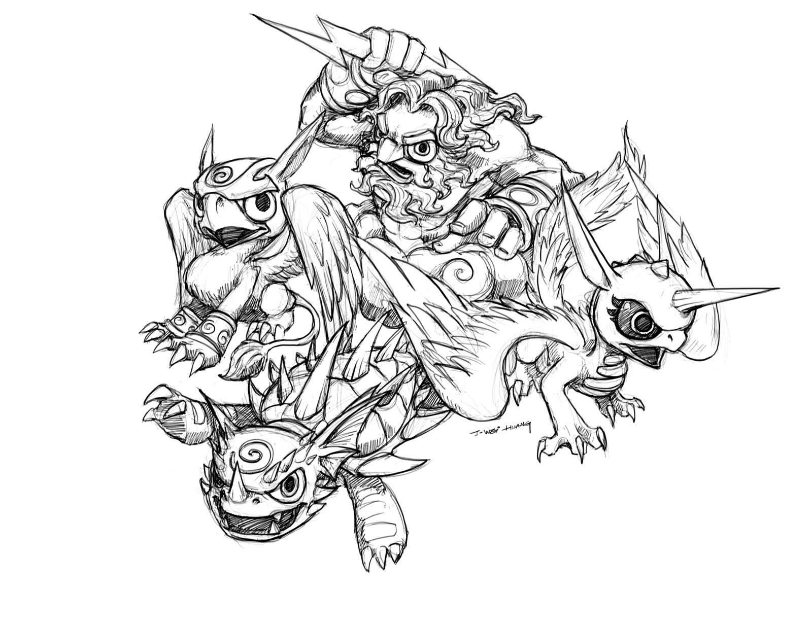 Skylanders Printable Coloring Pages 20 Pictures Colorinenet