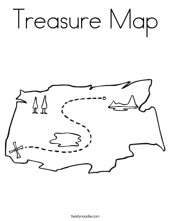 Pirate spot coloring pages ~ Pirate Map Coloring Pages - Coloring Home