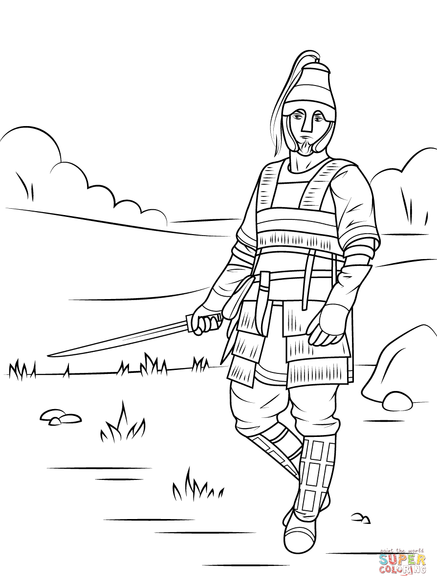 warrior coloring pages for kids - photo#13