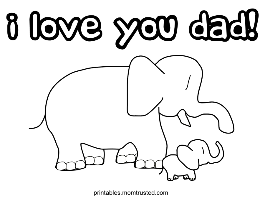Printable Happy Birthday Daddy Coloring Pages - Coloring Home
