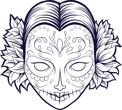 Cool Skull Design Coloring Pages Home