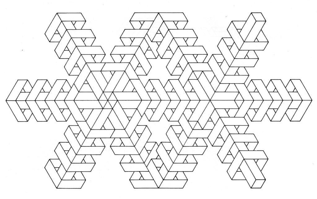 Simple Geometric Coloring Pages - Coloring Home