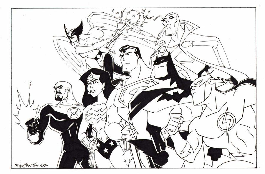 justice league printable coloring pages colorinenet 22253
