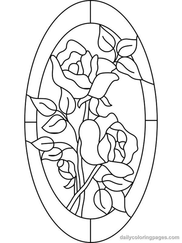 online stained glass coloring pages - photo#23