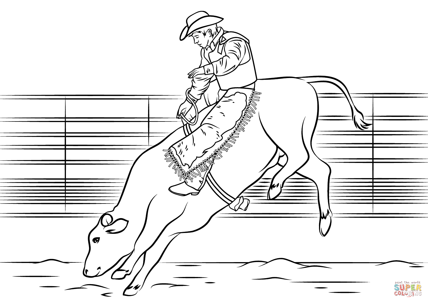 pbr bull coloring pages - photo#3