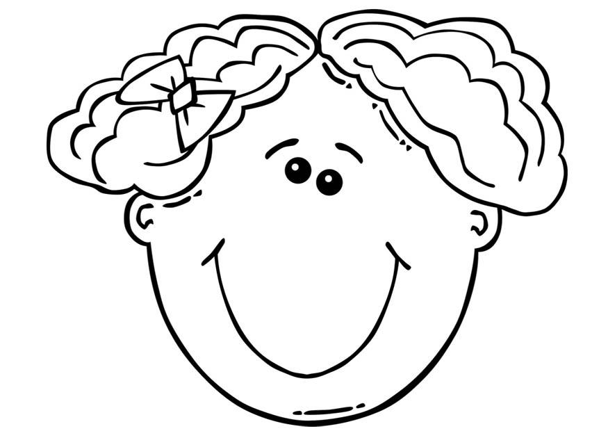 Coloring page Girl's face - img 17104.