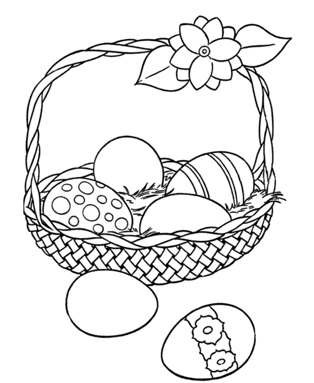 Easter Coloring Pages Printable Pdf : Printable easter egg basket coloring page az pages