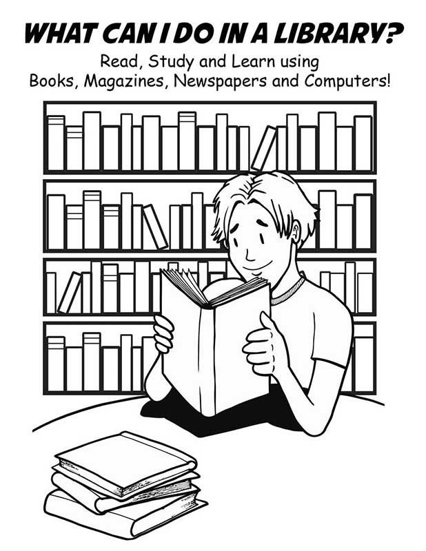 National Library Week Coloring Pages Coloring Home Librarian Coloring Page
