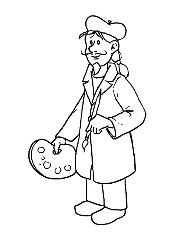 jobs and occupations coloring pages - photo#18