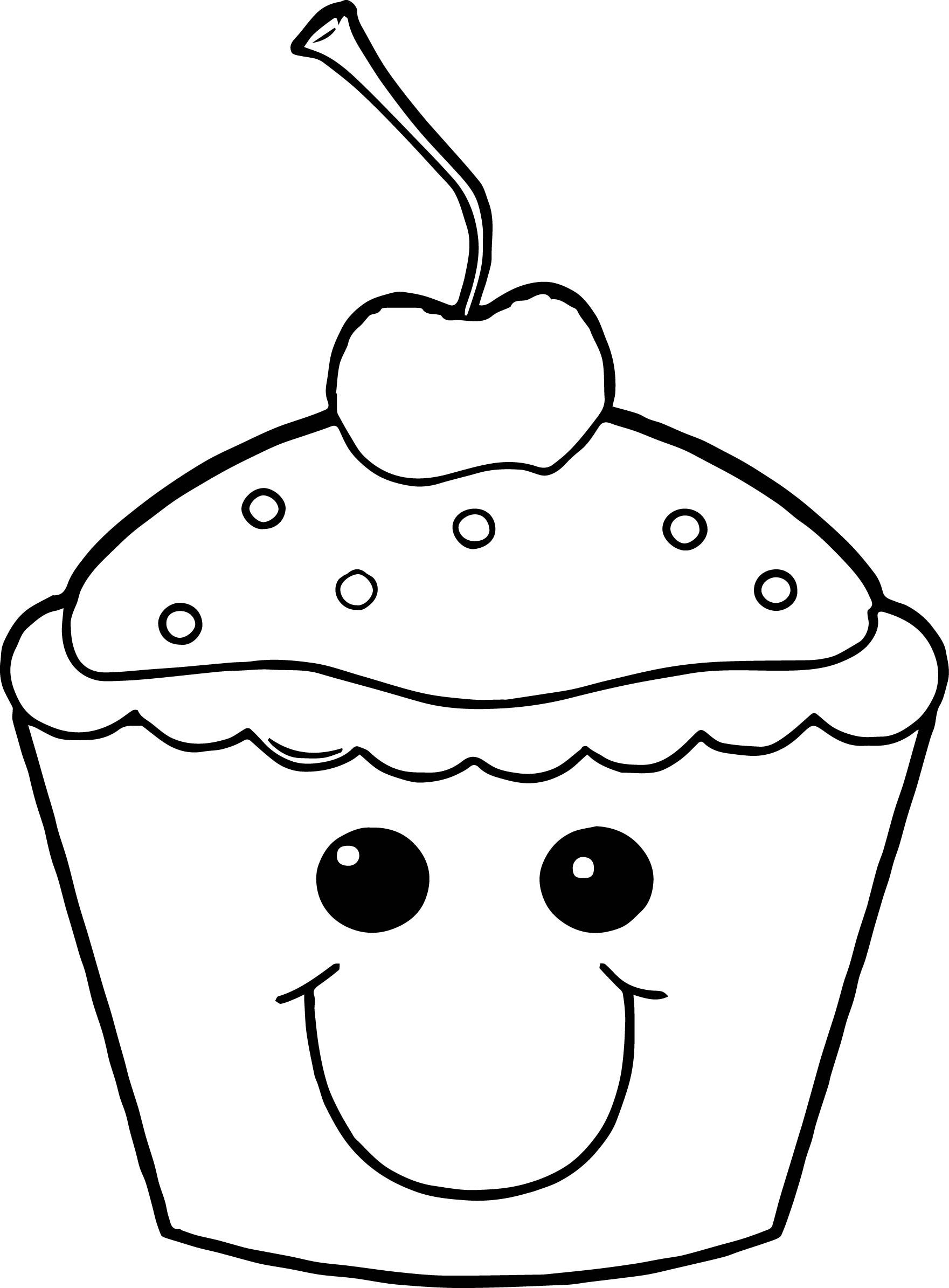 Kawaii Cute Cupcake Pages Coloring
