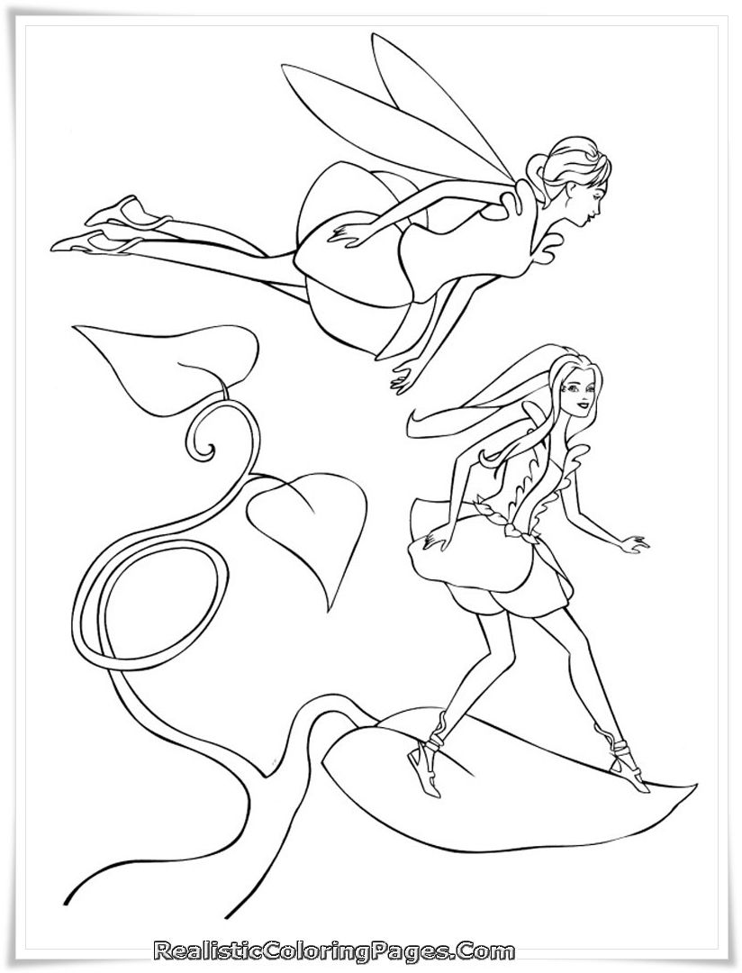 barbie fairytopia printable coloring pages realistic coloring