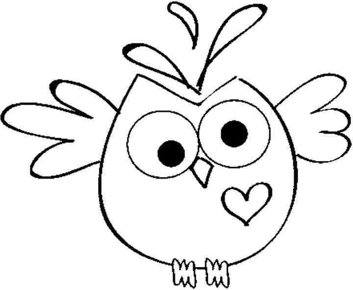 Owl Coloring Pages For Kids - Coloring Home