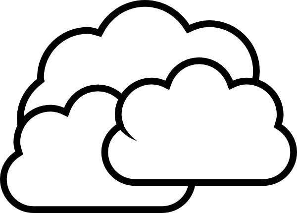 free cloud coloring pages - photo#10