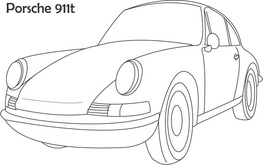 Coloring Pages Porsche 911 High Quality Coloring Pages Coloring Home